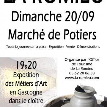 Marché de potiers à La Romieu