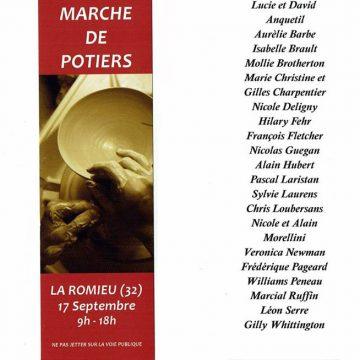 Marché de potiers à La Romieu …